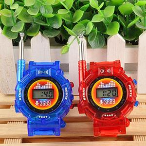 New 2pcs Walkie Talkies Watches Toys For Kids 7 In 1 Camouflage 2 Way Radios Mini Walky Talky Interphone Clock Children Toy