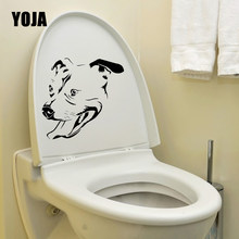 YOJA 23.4X20.4CM Staffordshire Bull Terrier Home Decor Wall Sticker Staffie Dog Design Toilet Decal T5-1581(China)