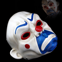 Batman Joker Clown Bank Robber Resin Masks The Dark Knight Scale Cosplay Mask Halloween