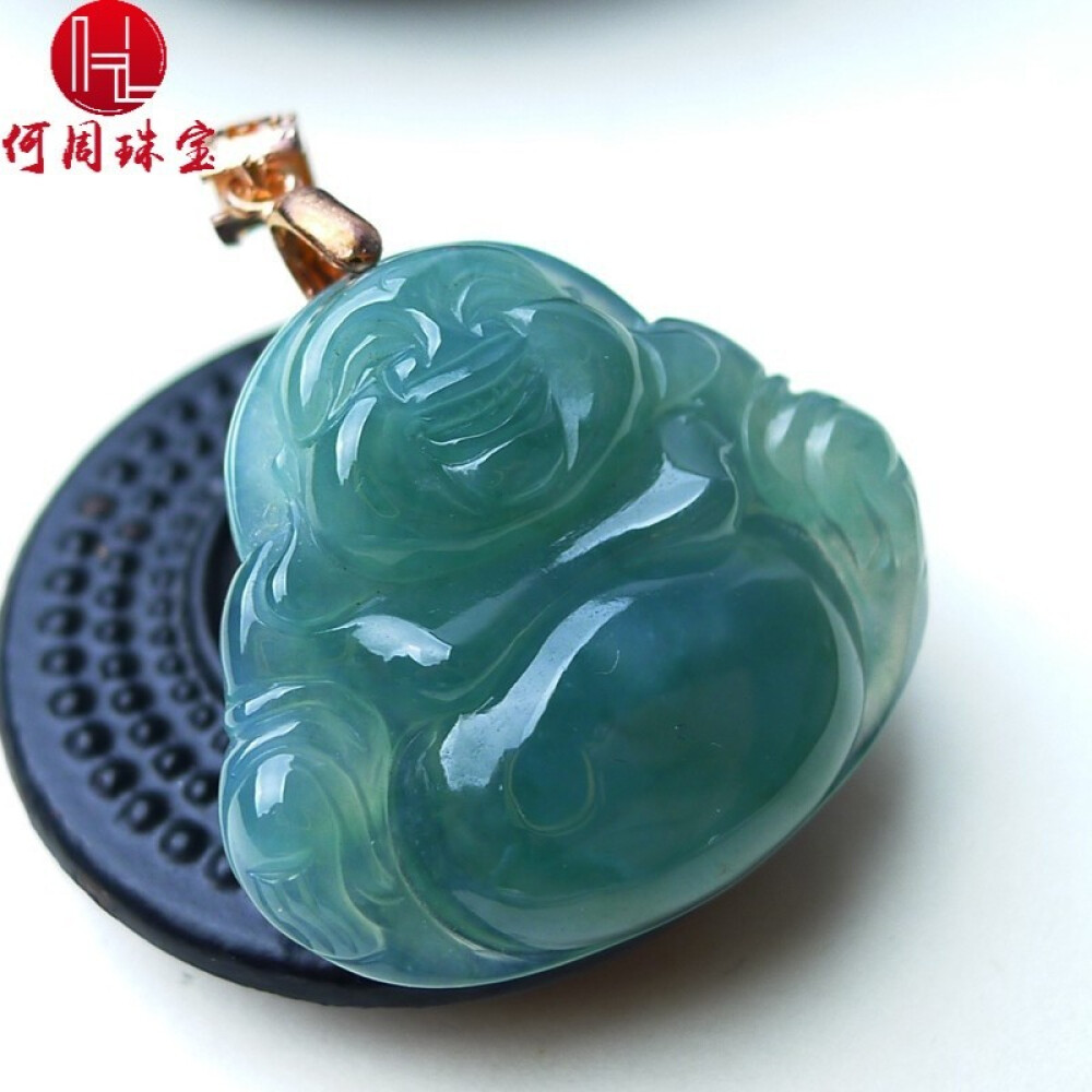 Hezhou jewelry!Myanmar natural jade!Exquisite hand carving!The Buddha pendant!Exquisite workmanship! 7.39g 2