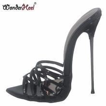 Wonderheel-Sandalias de tacón de aguja de 16cm para verano, zapatos de tacón alto, modernos y sexys, sin cordones