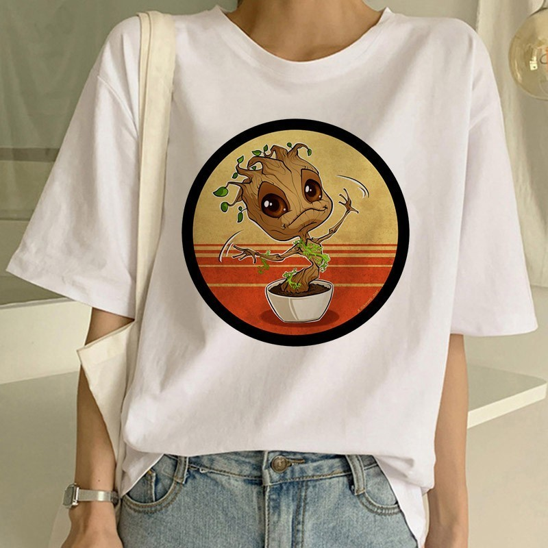 BABY GROOT Tshirt I am Groot O Neck Shirt Guardians of The Galaxy T-Shirt Baby Groot Women shirt I am Groot tshirt