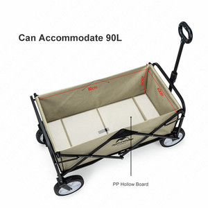 Image 2 - Naturehike 9.3kg Foldable Luggage Trolley Hollow Steal Pipie Double Layers 90L Large Capacity Shopping Trolley Fast Folding