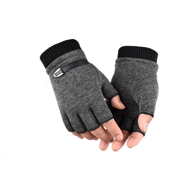 Army Military Tactical Half Finger Cycling Glove Winter Warm Men Women Sports Climbing Fitness Driving Fashion Wrist B50 image