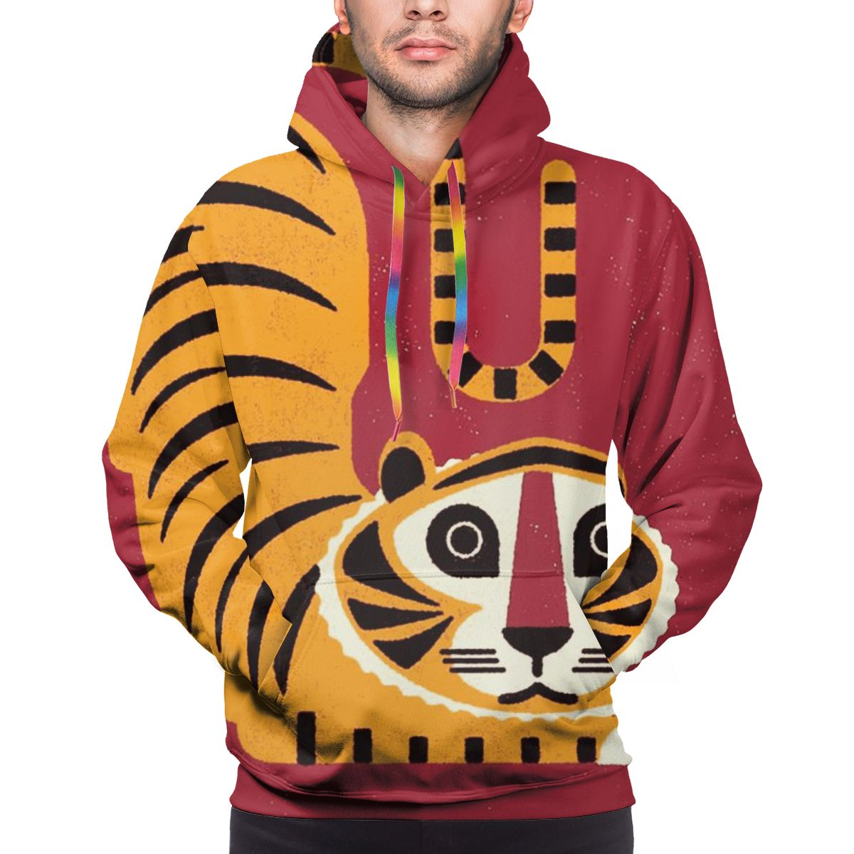 NOISYDESIGNS Festive Tiger 3D Print Sweatshirt Harajuku Hoodie Tracksuit Yellow Tigers Design Hoodies Animal Fashion Jacket