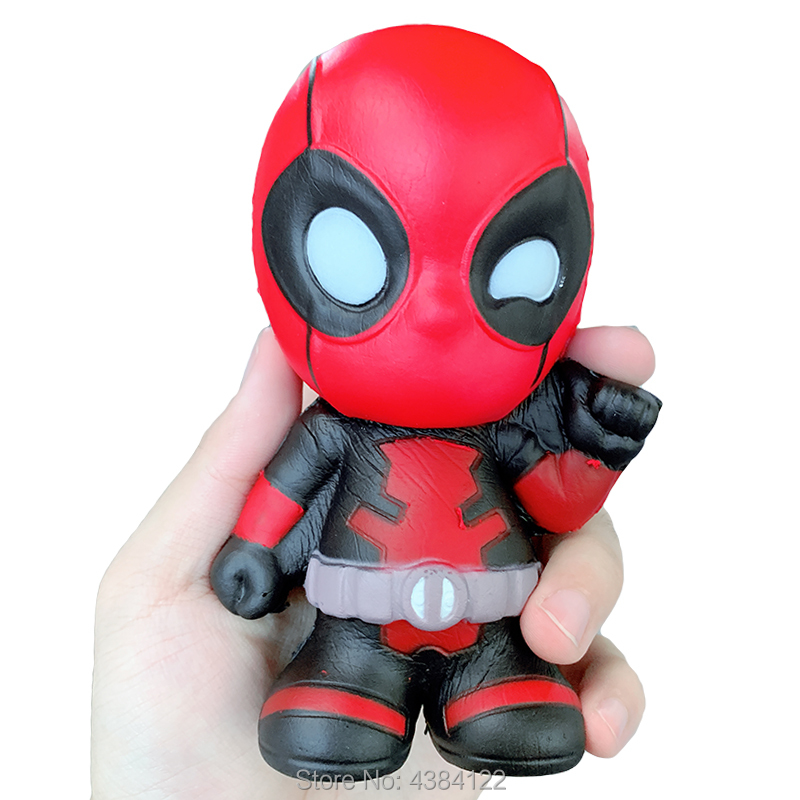 Marvel Avengers Squishy Slow Rising Deadpool Jumbo Squishies Kawaii Squeeze Stress Relief Antistress Squish Toys For Kid