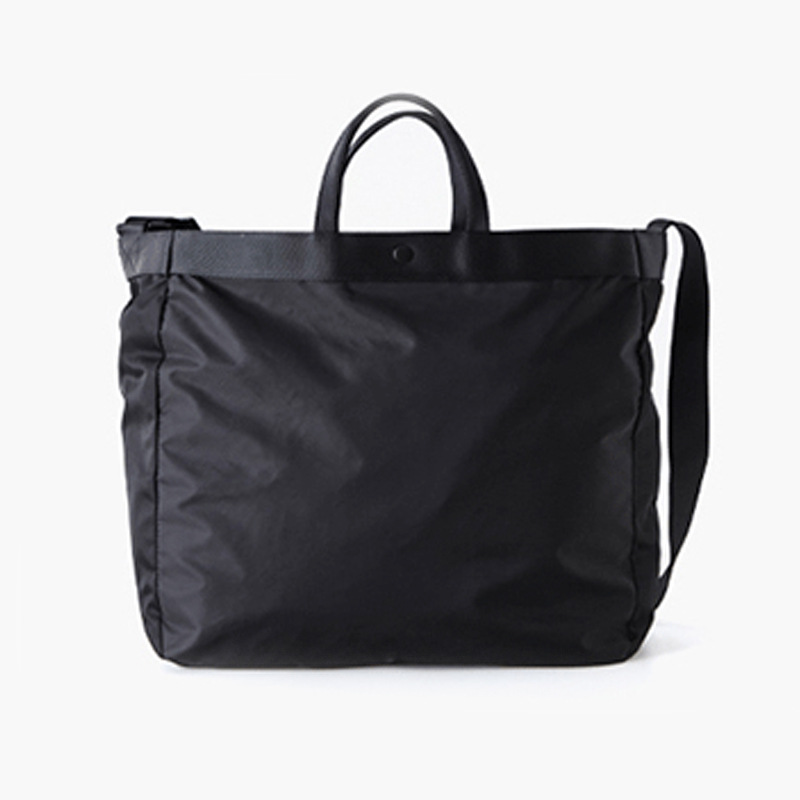 Ougger Large Weekend Travel Bag Casual Men's Shoulder Messenger Bags Black Nylon Popular Simple Sports Fitness Bags For Outdoor