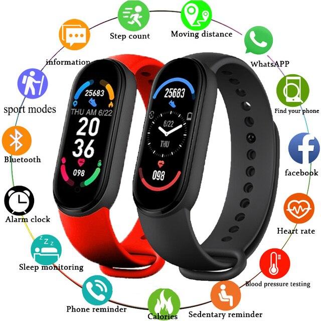 M6 Smart Watch 2021 For Men Wome Smart Bracelet Waterproof Sports Heart Rate Monitor Fitness Tracker Reloj Inteligente Clock m6 1