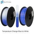 Температура Chan3D принтер нить изменение цвета с температурой  PLA нити 1 75 мм +/-0 03 мм  2 2 фунтов (1 кг) синий на белый