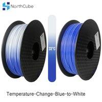 Temperatur Chan3D Drucker Filament Farbe mit der Temperatur Ändern  PLA Filament 1 75mm +/-0 03mm  2 2 £ (1KG) Blau zu Weiß