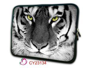 Funda de bolso de manga para portátil con cabeza de tigre blanco para Apple Macbook Pro Air 13,3 MC blanco 11 12 13 15 17