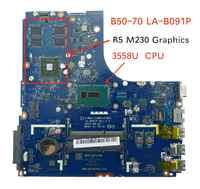 100% Tested Laptop motherboard for Lenovo B50-70 ZIWB2/ZIWB3/ZIWE1 LA-B091P SR1E8 3558U