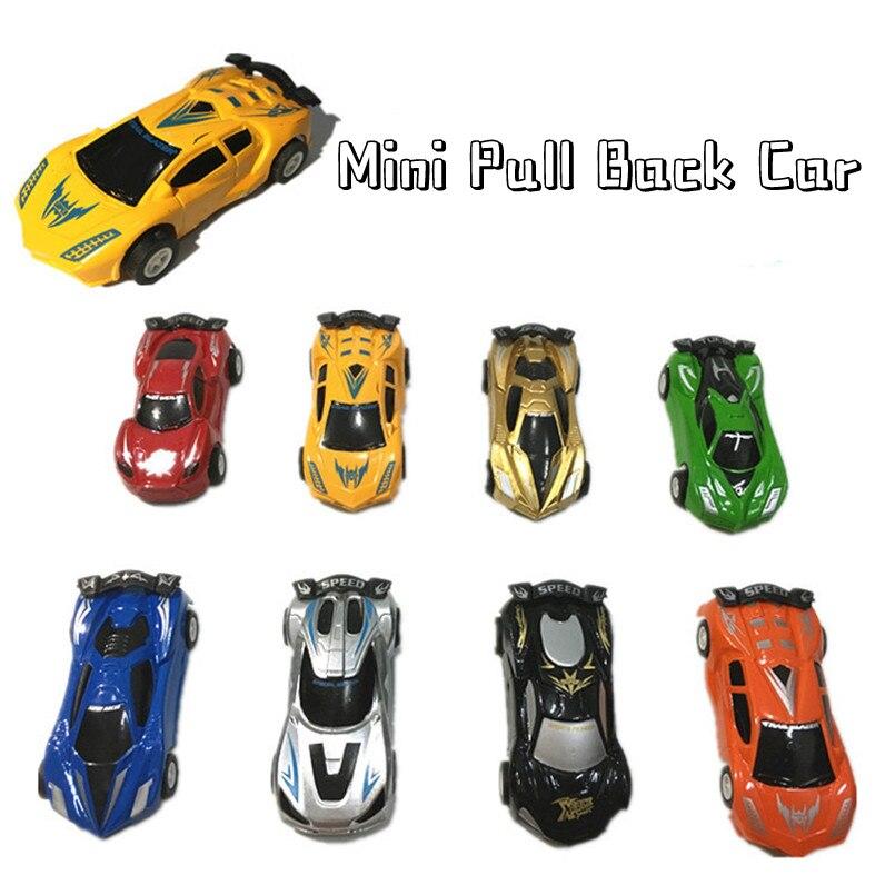 8Pcs/set Cartoon Pull Back Car Toys Boys Plastic Mini Racing Car Model Funny Classic Vehicle Toy For Children Birthday Gifts