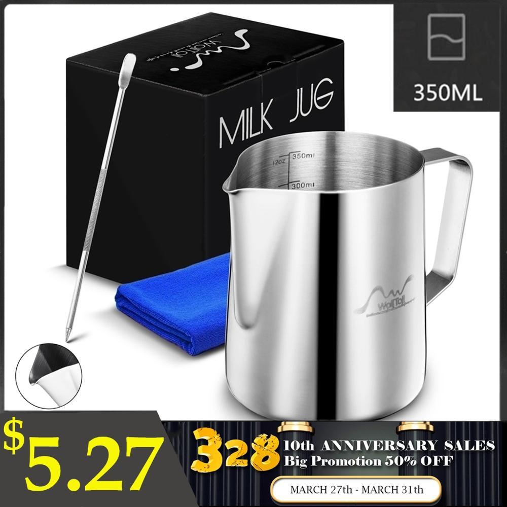 Jarra de espuma de leche de acero inoxidable Espresso CAFÉ Barista Craft cappuccino latte leche crema taza Frothing jarra