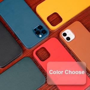 Image 5 - Capa de couro genuíno para iphone 12 pro max, estojo para celular magnético, para iphone 12 pro max