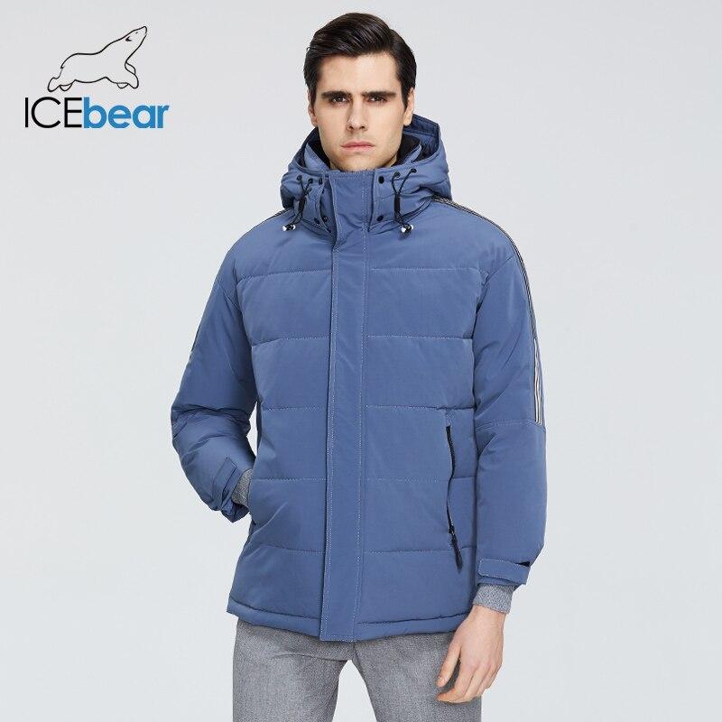 ICEbear 2019 New Winter Men's Coat High Quality Male Parkas  Brand Clothing MWD19959I