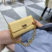 Texture Bag Women's 2020 New Stone Pattern Handbag Simple Versatile Chain Armpit Shoulder Bag
