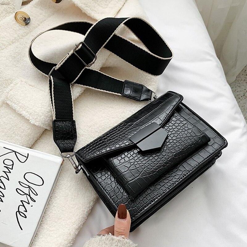 Stone Pattern PU Leather Crossbody Bag For Women 2020 Fashion Sac A Main Female Shoulder Bag Female Handbags And Purses