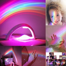 Hot Sale Creative Photo Rainbow Projector Projection Lamp USB LED  Colorful Small Night Light Lamp(Photo Artifact) Dropshipping