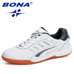 BONA 2020 New Style Football Boots Men Soccer Shoes Original Indoor Football White Sneakers Shoes Man Flat Comfortable Footwear