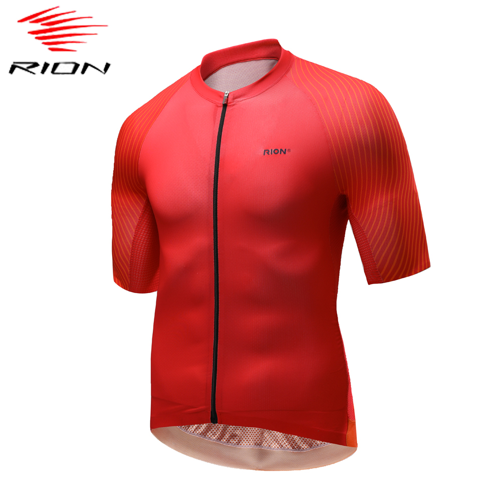 RION Men Cycling Jersey 2020 Short Sleeve MTB Road Bike Jersey Stripes Breathable Mountain Bicycle Jersey Maillot Ciclismo(China)