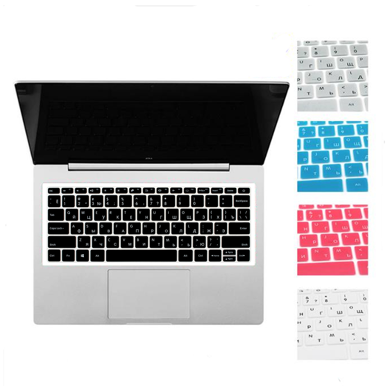 Spanish/Russian Silicone Keyboard Cover For Xiaomi Mi Notebook Air 12.5 13.3 Pro 15.6 Sticker Protector Guard Protective Film