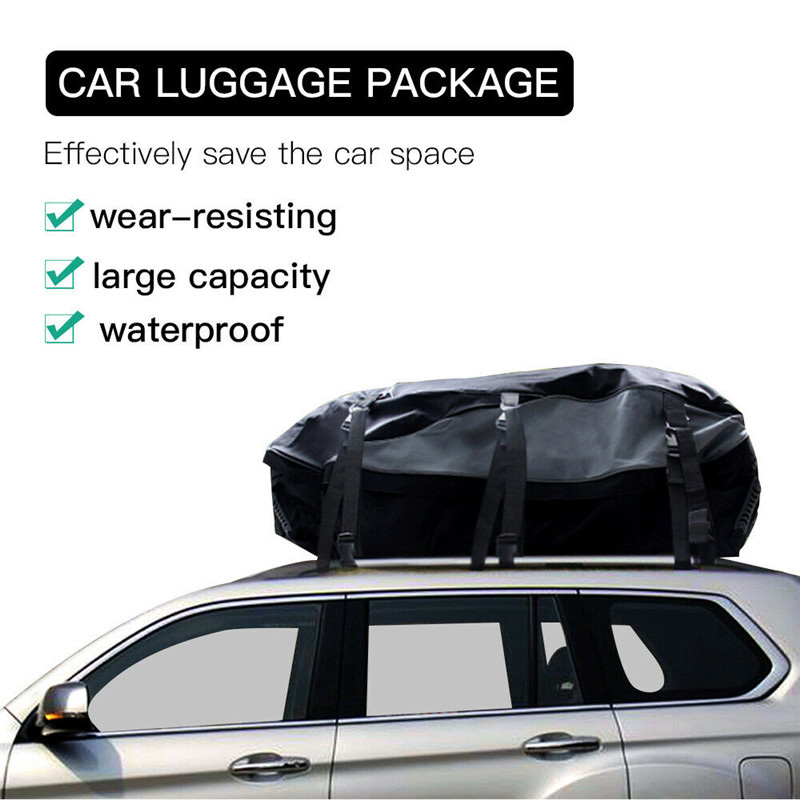 160x110x45cm Universal Waterproof Car Roof Top Rack Bag Cargo Carrier 8