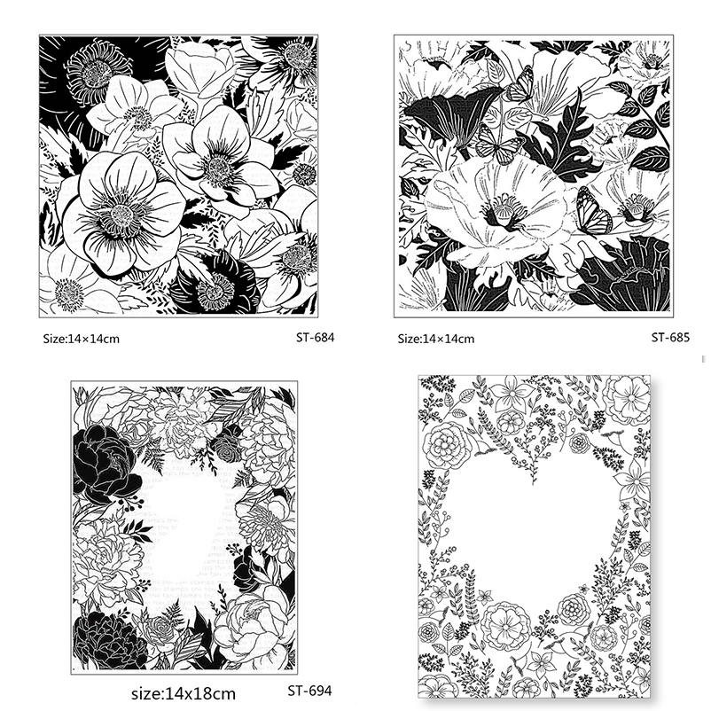 AZSG Different Style Beautiful Leaves Flowers Clear Stamps For DIY Scrapbooking/Card Making/Album Decorative Silicon Stamp Craft