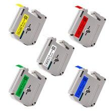 UniPlus 5PCS Mix Color Label Maker 9mm MK221 for Brother MK Label Tapes mk 421 m-k621 221 for Ptouch Label Printer Ribbon PT-70