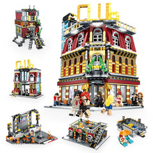Creator City LED Version Street 5 in 1 Night Club Bar Building Blocks Set Architecture Bricks Model Kids Children Toys Gifts
