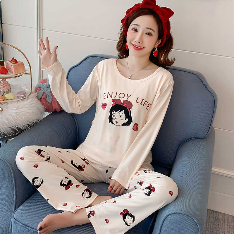 Maternity Pajamas set new autumn winter long Sleeve Breastfeeding Sleepwear Cotton Nursing Clothes For Pregnant Women Outerwear