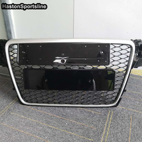 A4 B8 Modified RS4 Style Matt Silver Front Bumper Engine Grill Grids for Audi A4 S4 RS4 2009 2010 2011 2012