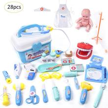 28PCS/Set Kids Toys Doctor Set Baby Suitcases Medical kit Co
