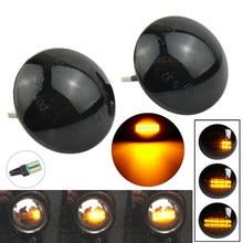 O marcador lateral fumado cristal 2x conduziu a luz do sinal da volta para range rover l322 2002-2012 xgb500020a xgb500020 irr/ra12l32202sm