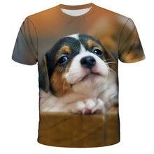 Hot Sale 2021 Children 3D Cute Dog Face Children's Printed T-Shirt Boys / Girls Fashion Casual Top T-Shirt Short Cleeve Fashion