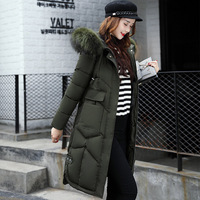 Coat jacket hooded winter jacket women parkas 2019 new women jacket fur collar outerwear female plus size long section coats