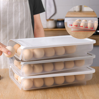 Kitchen Egg Holder for Refrigerator Transparent Egg Storage Container Box Tray Food Storage With Slope Design Easy to Access|Bottles Jars & Boxes|Home & Garden -