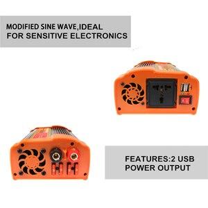 Image 4 - 인버터 12V 220V 12000 와트 피크 6000W 자동 수정 사인파 전압 변압기 태양 광 인버터 변환기 자동차 충전 USB