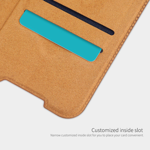 Image 4 - For Xiaomi Redmi Note 9 /9 Pro Flip Case NILLKIN QIN Series Flip Leather Cover For Redmi Note 9 Pro max with wake/Sleep Function