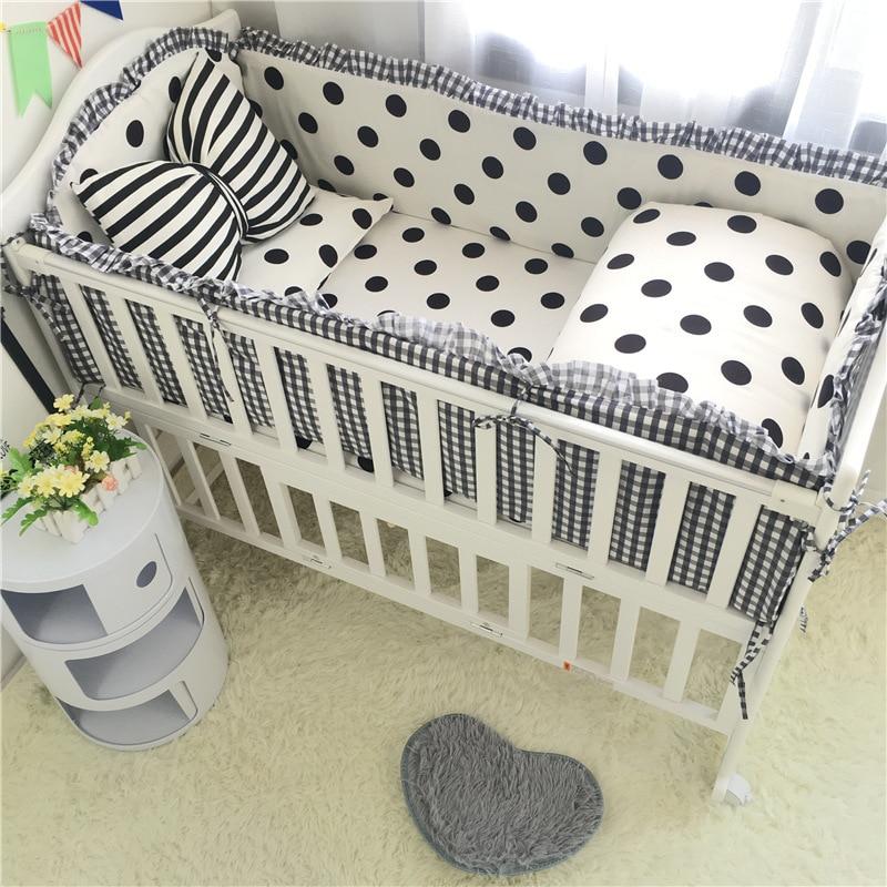 Coton bébé lit pare-chocs oreiller couette nouveau-né literie ensemble bébé lit bébé pare-chocs bébé décoration chambre bébé pépinière enfant berceau pare-chocs
