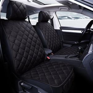 Image 4 - Uniwersalny pluszowe pokrycie siedzenia samochodu zima ciepłe Faux Auto przód tył oparcia siedzenia poduszka wnętrze akcesoria Protector