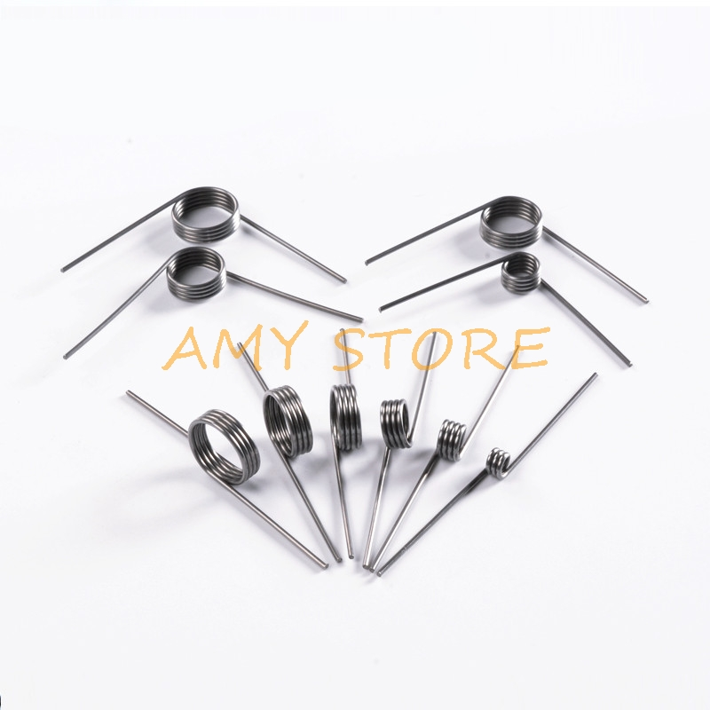 10Pcs 0.3 0.4 0.5mm 304 Stainless Steel Small V Shaped Coil Torsion Spring 90 135 175 180 degree|Power Tool Accessories| |  - title=