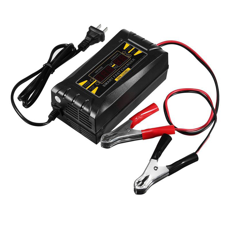Son-1210D+ Lcd Smart Fast Lead-Acid Battery Charger 12V 10A For Car Motorcycle Us Plug