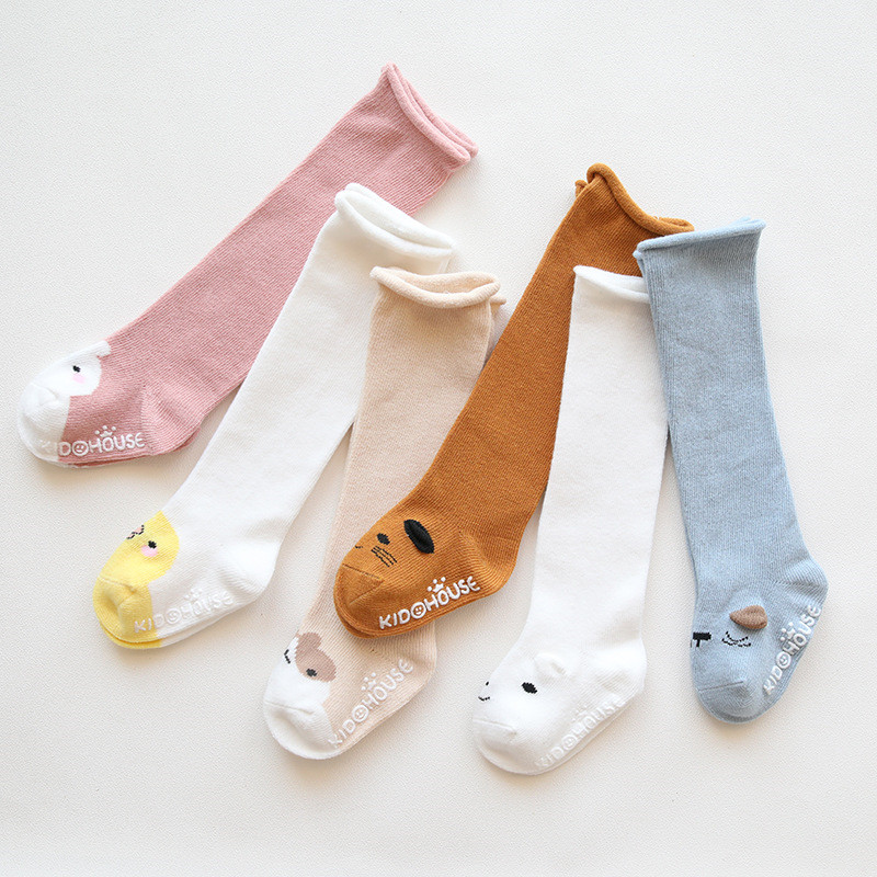 Knee High Baby Socks New Born Socks For Girls Cotton Cartoon Infant Baby Boys Socks Anti Slip Casual Winter Baby Leg Warmers