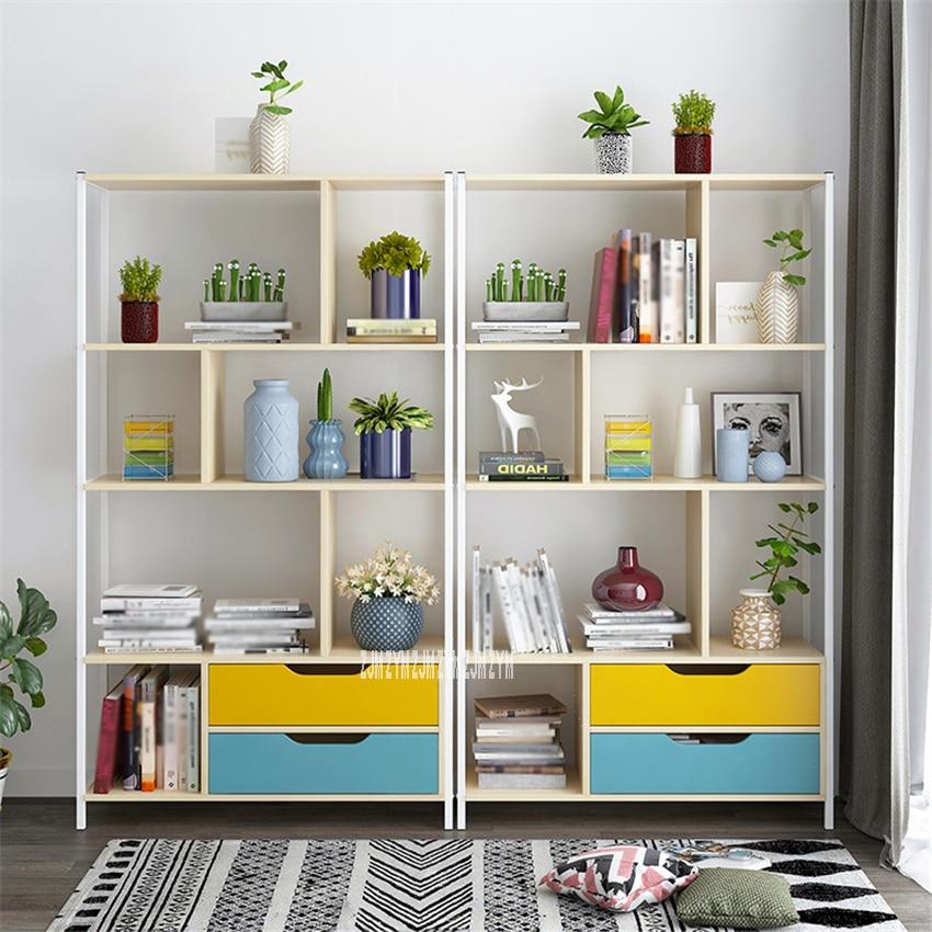 Mega Discount 254dc Multifunctional Saving Space Student Floor Standing Bedroom Bookcase Modern Simple Bookshelf Floor Standing Display Cabinet Cicig Co