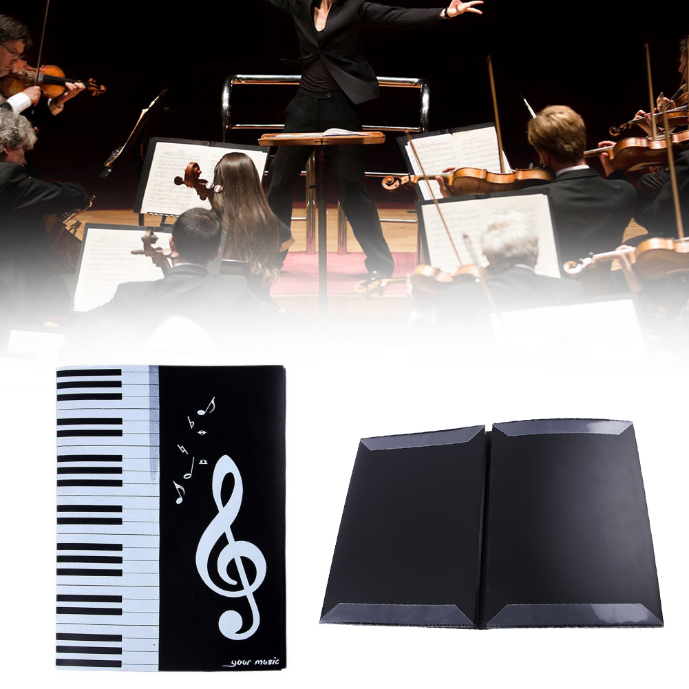 Case Concert Document File Clips Storage Multi-functional Piano Instrument Player Sheet Note Six-Page A4 Music Folder Four Sides