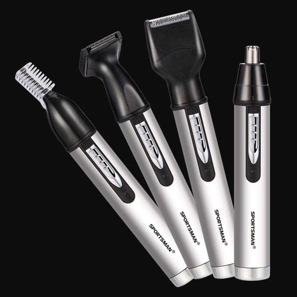 Elektrische nase haar trimmer männlichen wiederaufladbare koteletten fan sie rasiermesser trimmen augenbrauen in einem - 4