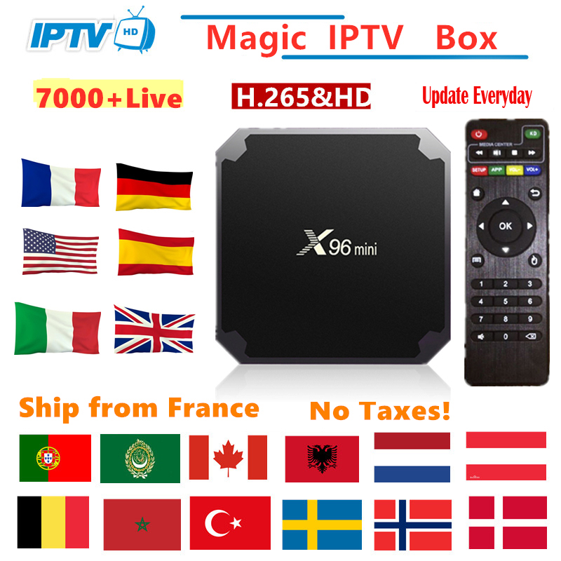 X96mini Android Tv Box IPTV france M3U Subscription Italy Arabic Belgium spain Sweden Nordic Portugal Canada USA Smart IP TV Box(China)
