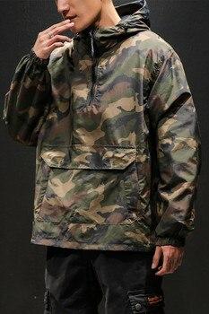 Windbreaker Jacket For Men | Men Jackets 2019 Camouflage Camo Windbreakers Streetwear Hip Hop Jacket Mens Spring Tactical Military Casual Double Sided Jacket