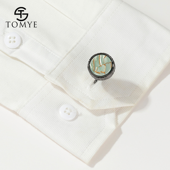 Cufflinks for Men TOMYE XK20S055 High Quality Fashion Round Metal Shirt Cuff Links for Gifts